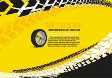 Automotive Tire Background 33. Vector automotive banner template. Grunge tire tracks backgrounds for landscape poster, digital banner, flyer, booklet, brochure Stock Photos