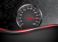 Vector autosnelheidsmeter. Abstracte achtergrond Royalty-vrije Stock Foto's