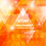 Vector autumn abstract triangles background. Vector illustration of autumn abstract triangles background Stock Images