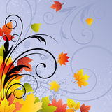 Vector autumn background Royalty Free Stock Photography