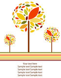 Vector autumn background Stock Images