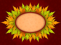 Vector autumn background with maple leaves. Beautiful autumn background with maple leaves and space for text. Vector illustration Stock Image