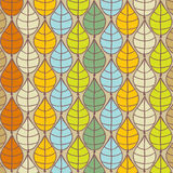 Vector autumn background with multicolored leaves Stock Photo