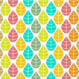 Vector autumn background with multicolored leaves Royalty Free Stock Image