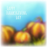 Vector autumn background for Thanksgiving Day Stock Photo