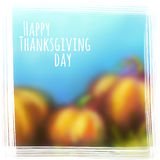 Vector autumn background for Thanksgiving Day Stock Image