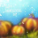 Vector autumn background for Thanksgiving Day Royalty Free Stock Images