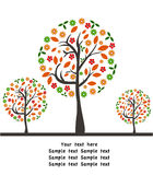 Vector autumn background with tree Stock Images