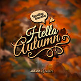 Vector autumn blurred background Royalty Free Stock Image
