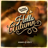 Vector autumn blurred background. Vector abstract autumn theme photographic blurred background Stock Images