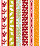 Vector autumn border Royalty Free Stock Photos