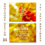 Vector autumn brochure design A4. poster, vector. Illustration stock illustration