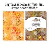 Vector autumn brochure design A4. poster, vector. Illustration royalty free illustration