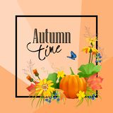 Vector Autumn Card Royalty Free Stock Images