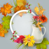 Vector Autumn Card Royalty Free Stock Photos