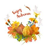 Vector Autumn Card Stock Photo