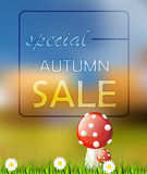 Vector autumn card sale Stock Photos