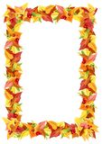Vector autumn colorful leaves frame. Royalty Free Stock Images