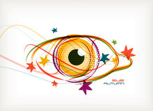 Vector autumn eye nature concept Stock Image