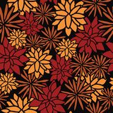 Vector autumn flowers seamless pattern royalty free illustration