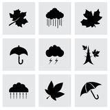 Vector autumn icon set Royalty Free Stock Photography