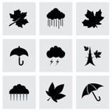 Vector autumn icon set Royalty Free Stock Photography
