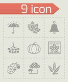 Vector Autumn icon set Royalty Free Stock Images