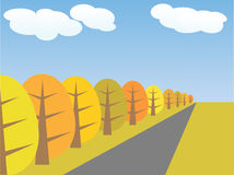 Vector autumn landscape Royalty Free Stock Photography