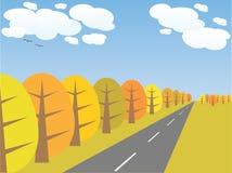 Vector autumn landscape Stock Image