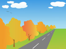 Vector autumn landscape Royalty Free Stock Image