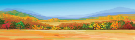 Vector of autumn landscape. Royalty Free Stock Photo
