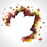 Vector autumn leaves background with copy space. Stock Images
