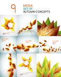 Vector autumn leaves design collection Royalty Free Stock Photography