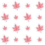 Vector autumn polygonal maple leaves seamless Royalty Free Stock Images