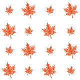Vector autumn polygonal maple leaves seamless Royalty Free Stock Image