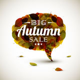 Vector Autumn sale bubble Stock Image
