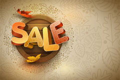 Vector Autumn Sale Design Template.  royalty free illustration