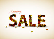 Vector autumn sale poster royalty free illustration