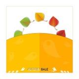 Vector autumn sale Stock Image