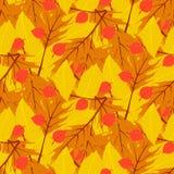 Vector autumn seamless background Royalty Free Stock Photo