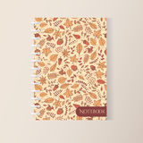 Vector autumn spiral notebook cover with autumn pattern Royalty Free Stock Image