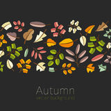 Vector autumn template. Modern stylized colorful leafs. Royalty Free Stock Photos