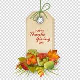Vector Autumn Thanksgiving Label ilustración del vector
