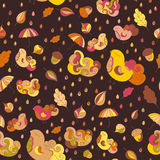Vector autumn theme background.  Seamess pattern for your designs. Stock Photos