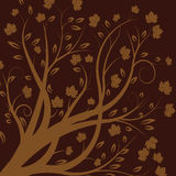 Vector autumn tree. Background design Stock Images