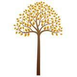 Vector autumn tree. Abstract autumn tree on white background, vector illustration vector illustration