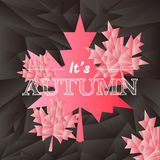Vector autumn typography mosaic poster in black Royalty Free Stock Photography