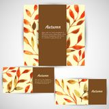 Vector autumn watercolor leaf pattern template Royalty Free Stock Photography