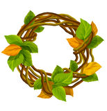 Vector autumn wreath decoration Stock Photo