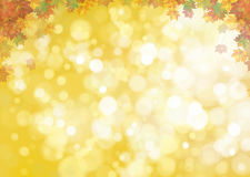 Vector autumnal leaves background. Vector autumnal leaves on bokeh background Stock Images